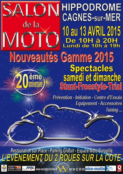 2015 salon de la moto cagnes affiche scoot discount for Salon moto nice