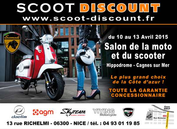 Scoot discount scooters chinois 50 et 125cc prix discount yiying neco orcal keeway - Salon moto cagnes sur mer ...