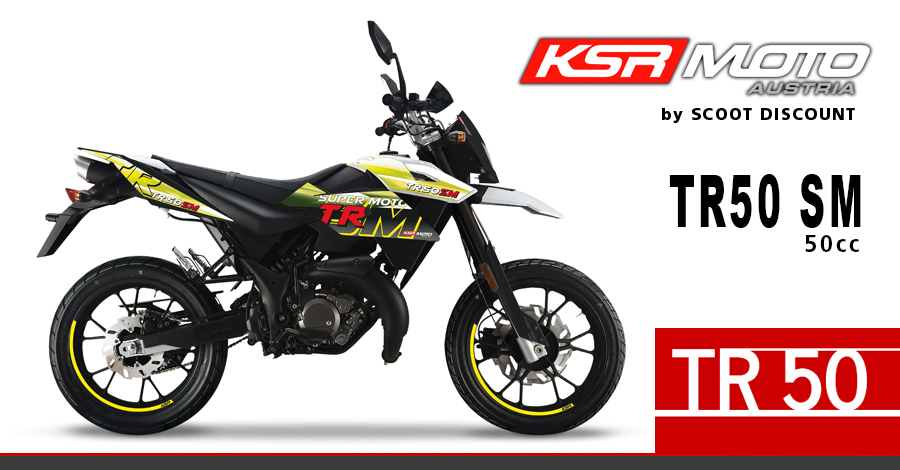 moto KSR TR 50 SM 50cc Super Motard