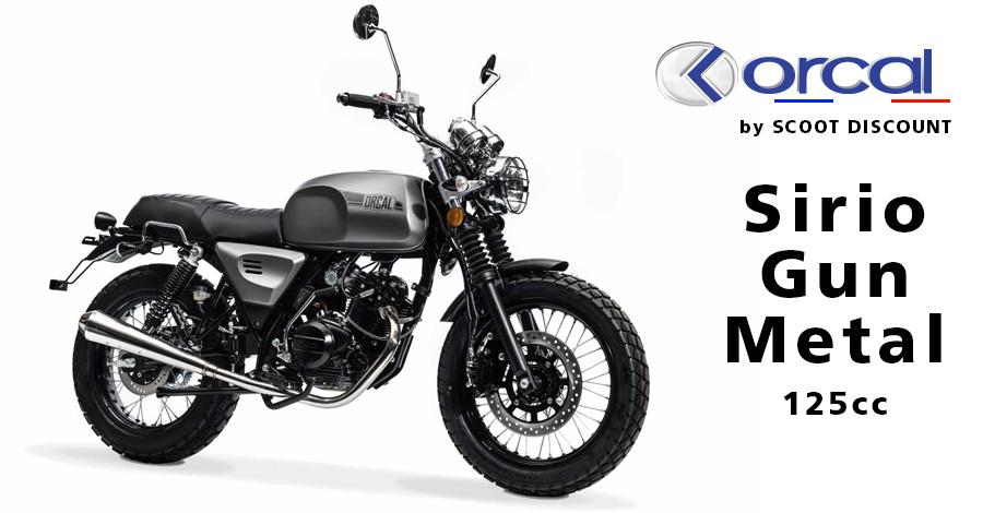 moto Orcal Sirio Gun Metal 125cc