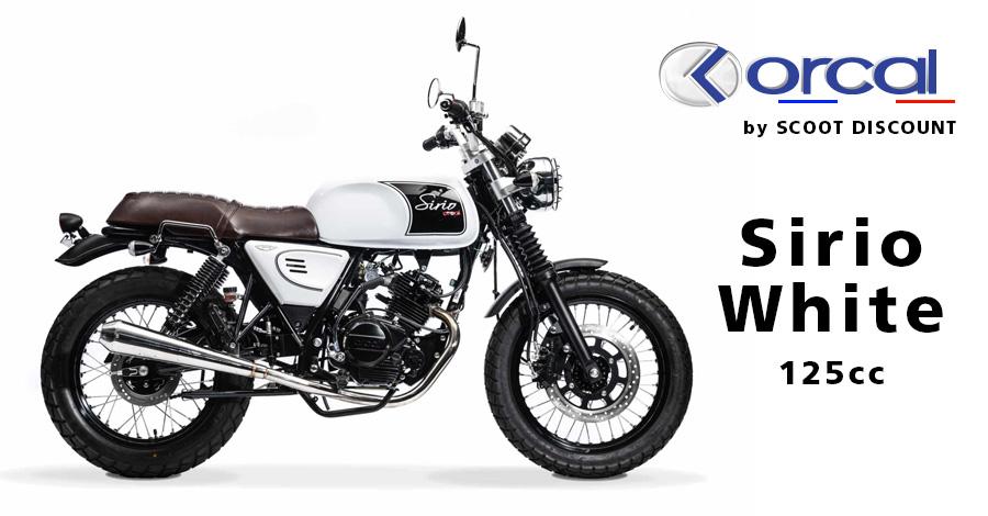 moto Orcal Sirio White 125cc