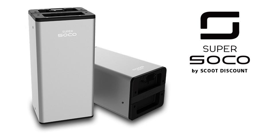 moto Super SOCO Batterie