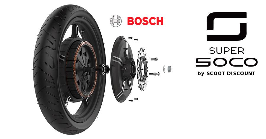 moto Super SOCO moteur Bosch
