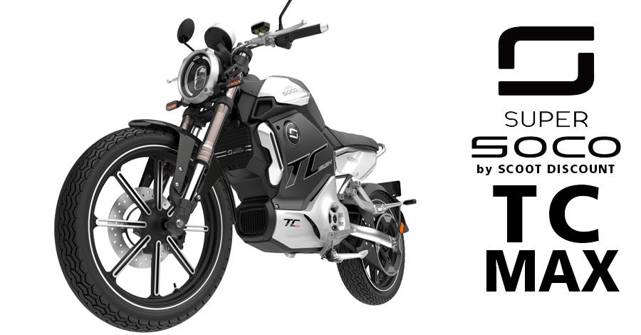 moto électrique Super SOCO TC MAX équivalent 125cc