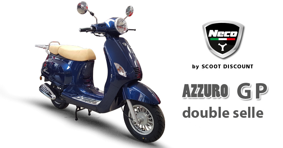 scooter Neco Azzuro GP double selle