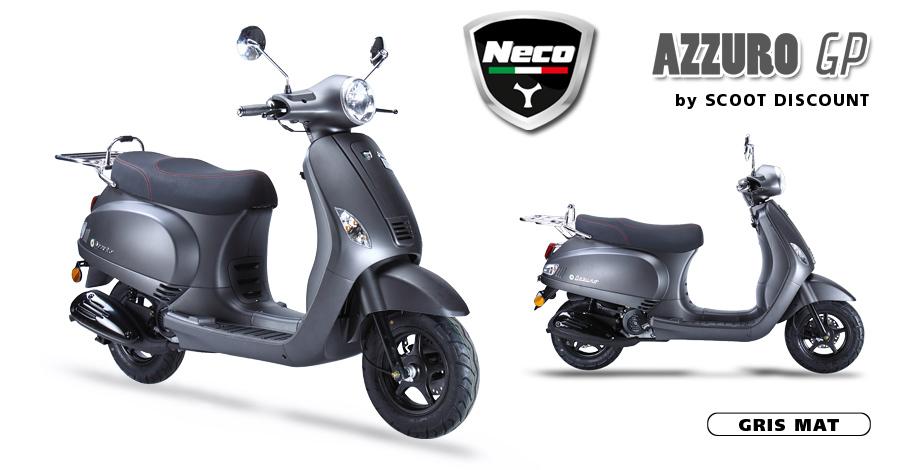 scooter Neco Azzuro GP gris mat