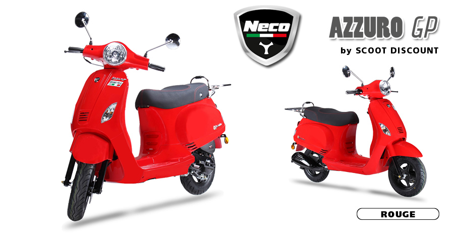 scooter Neco Azzuro GP rouge
