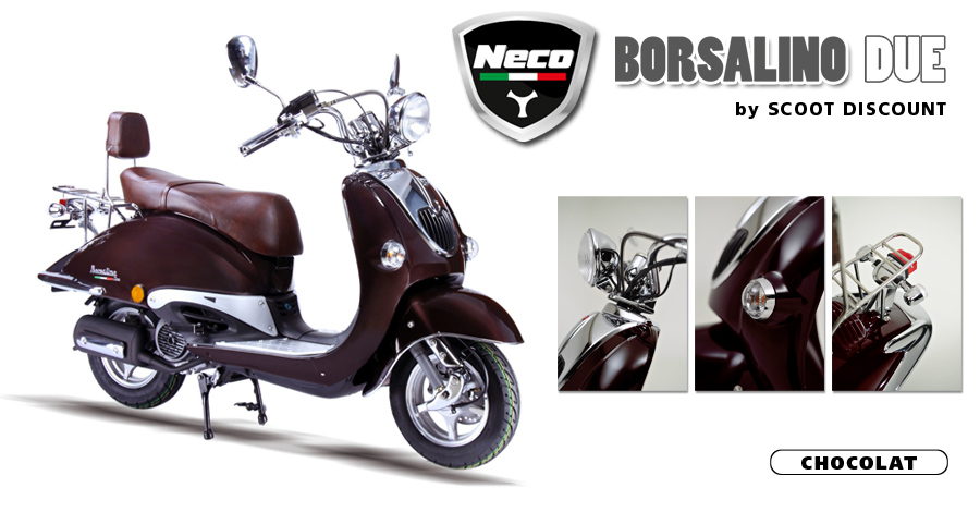 scooter Neco Borsalino Due chocolat