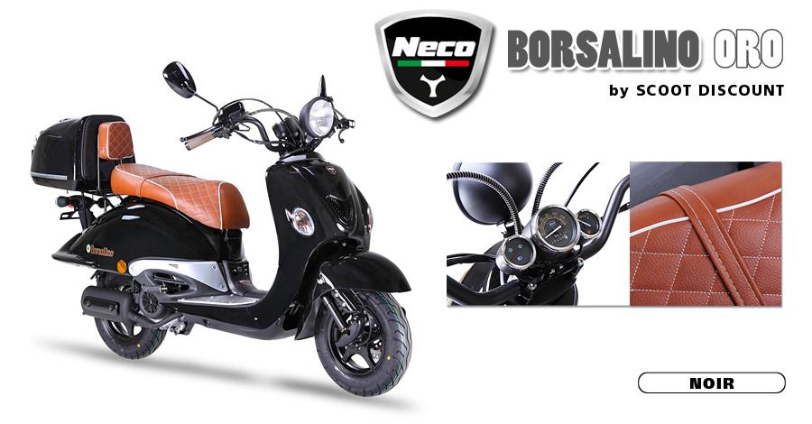 scooter Neco Borsalino Oro noir