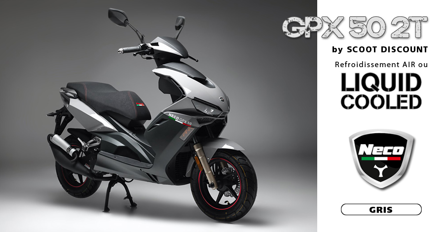 scooter Neco GPX 50 2T gris
