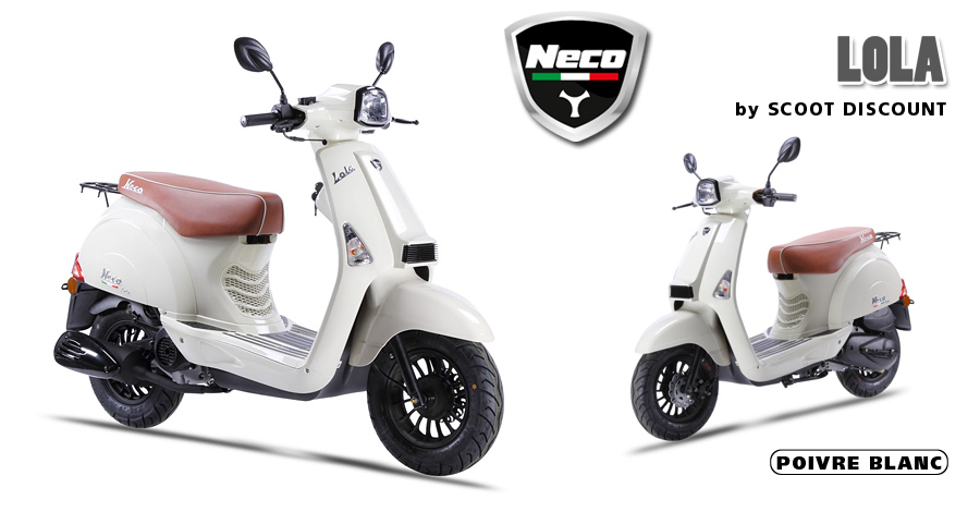 scooter Neco Lola poivre blanc