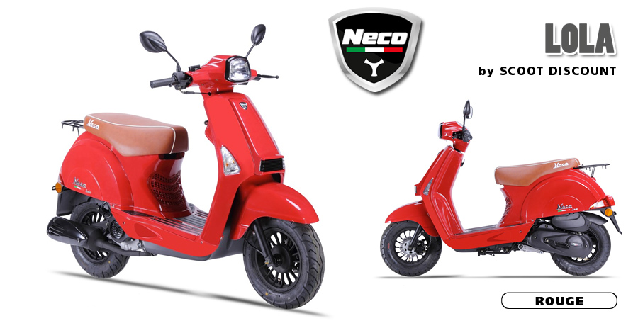 scooter Neco Lola rouge