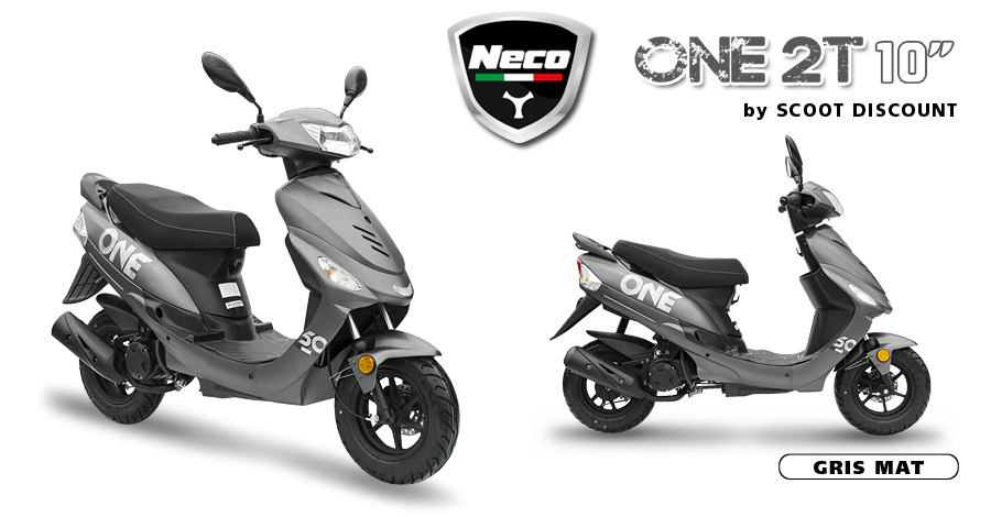 scooter neco one 2t 10 scoot discount. Black Bedroom Furniture Sets. Home Design Ideas