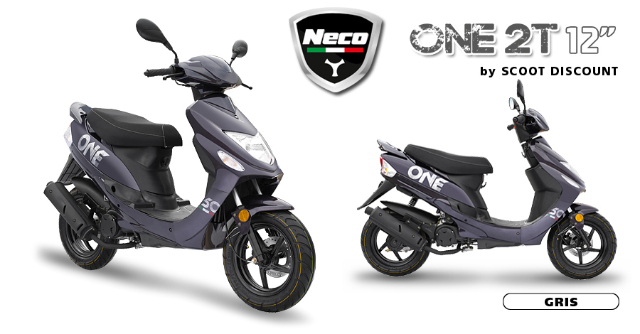 scooter Neco One 2T 12 gris mat