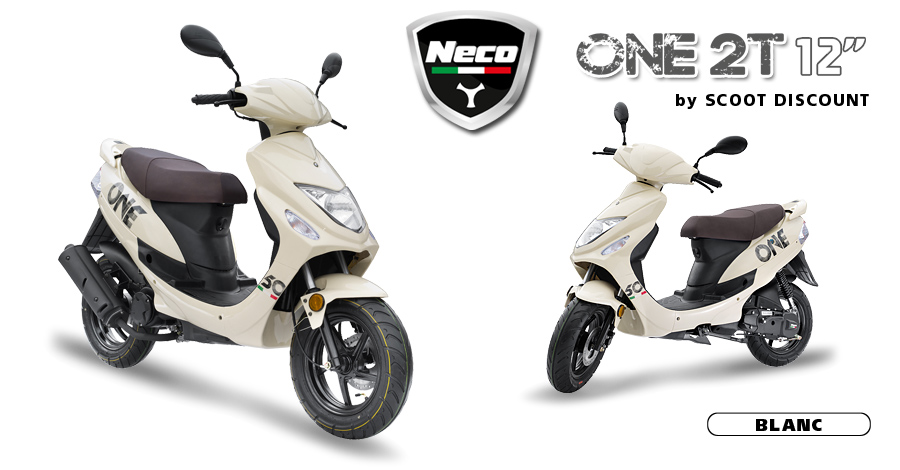scooter Neco One 2T 12 blanc