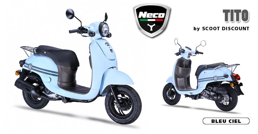 scooter Neco Tito bleu ciel