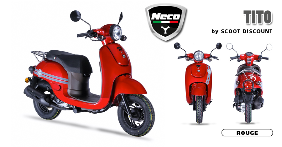 scooter Neco Tito rouge