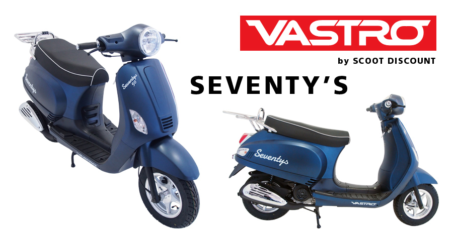 scooter VASTRO Seventy's 50 et 125cc