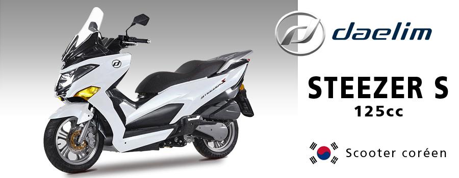 Scooter DAELIM STEEZER S fabriqué en Corée