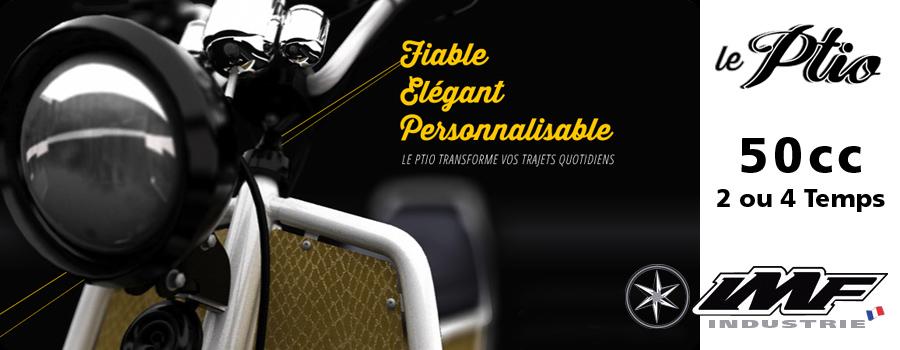 Scooter IMF Industrie Ptio, le scooter français entièrement personnalisable