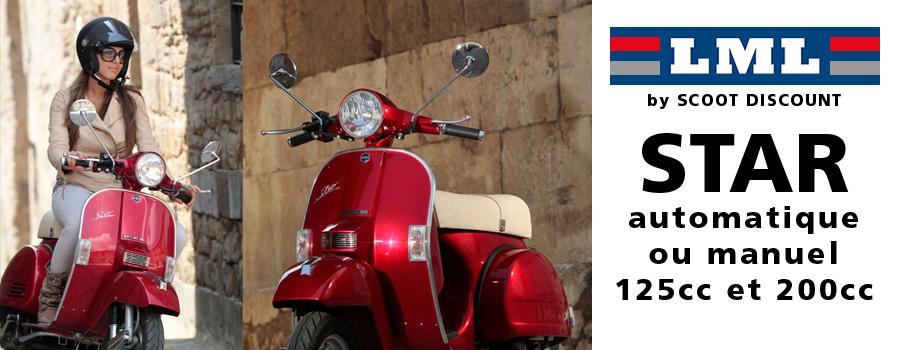 Scooters LML STAR 125cc et 200cc, 4 vitesses automatiques ou manuelles