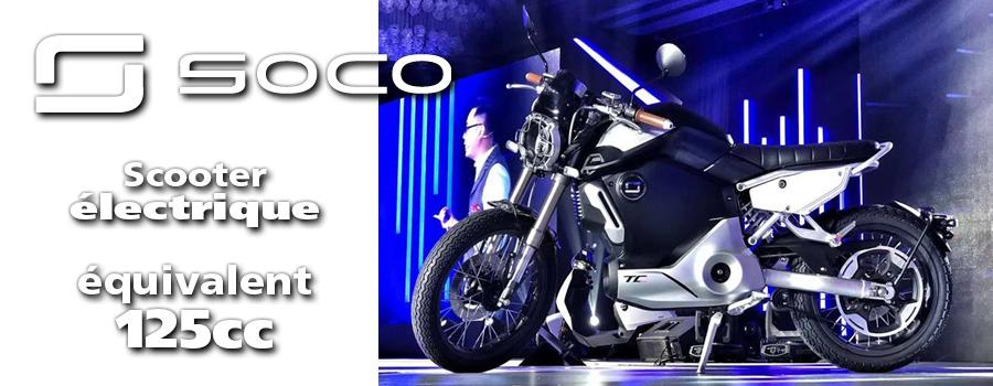 moto Super SOCO MAX, moto électrique équivalent 125cc