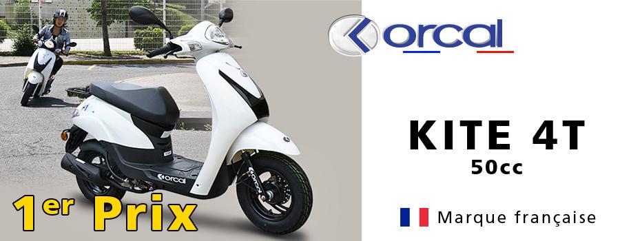 Scooters français pas cher : scooter 50cc Orcal Kite 1er prix