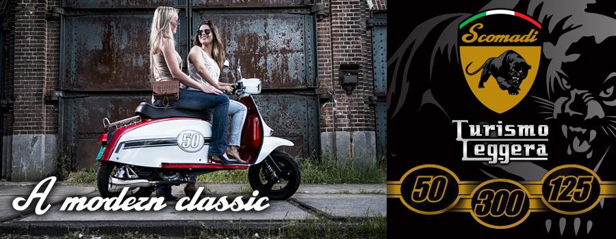 Scooter Scomadi Turismo Leggera 50, 125 et 300cc