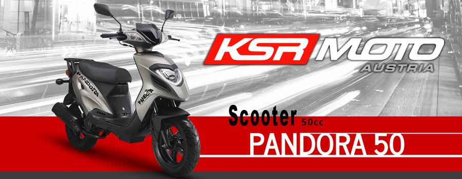 Scooter KSR Moto modèle Pandora 50cc