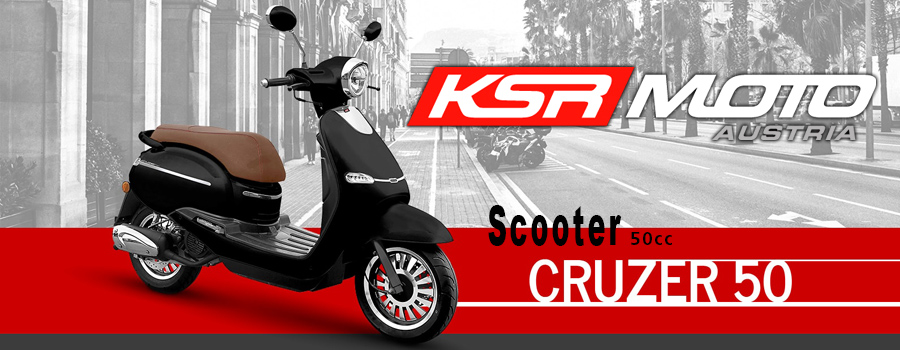 Scooter KSR Moto modèle Cruzer 50cc