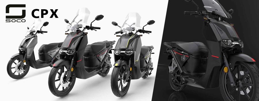 scooter Super SOCO CPX, scooter électrique équivalent 125cc